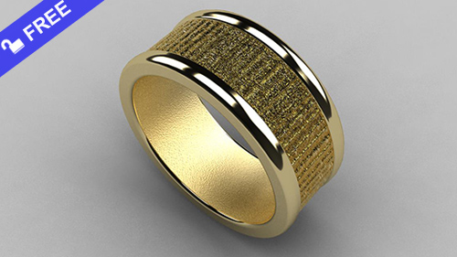 Textured Men's Ring