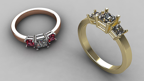 Trilogy Ring - Princess Cut