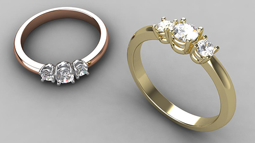 Trilogy Ring - Brilliant Cut
